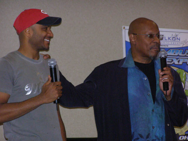 Cirroc Lofton and Avery Brooks at Columbus Sci-Fi Expo