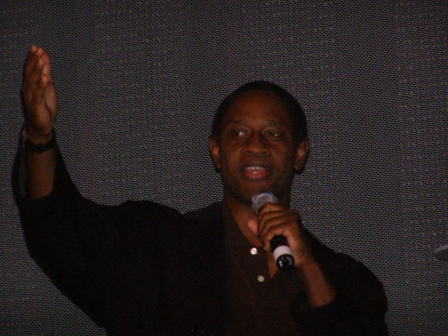 "Tim Russ introducing ""Of Gods and Men"" in Seattle, Sept. 8, 2006"