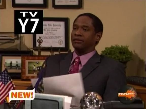"Tim Russ as the School Principal in the pilot of ""iCarly"""