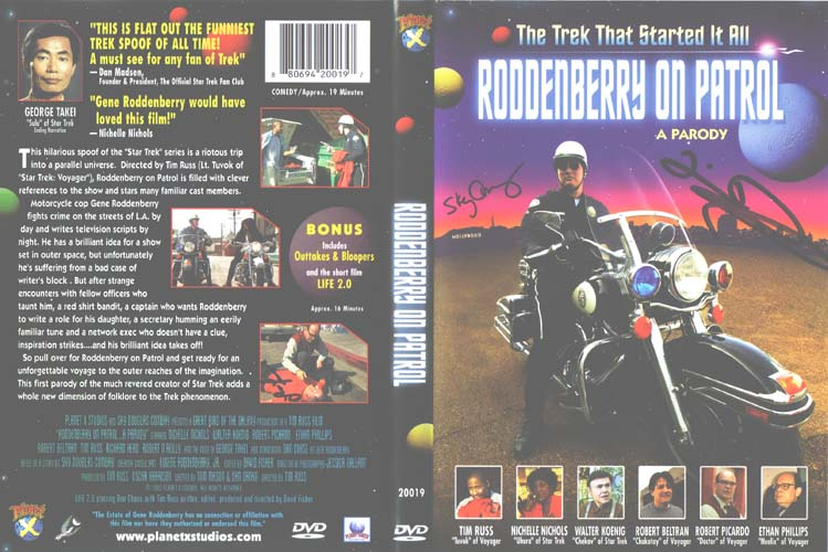cover of the DVD Roddenberry on Patrol, directed by Tim Russ