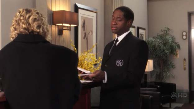 "Tim as Frank, the Doorman, ep. ""The Girlfriend"" of ""Samantha Who?"