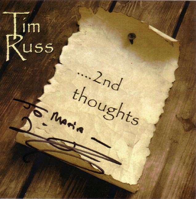 Cover of Tim Russ' new CD 2nd Thoughts
